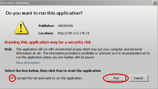 povolení spuštění aplikace