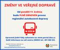 Od 11. května bude v autobusové dopravě obnoven plný provoz