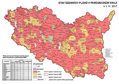 stav územních plánů k 1. 11. 2017